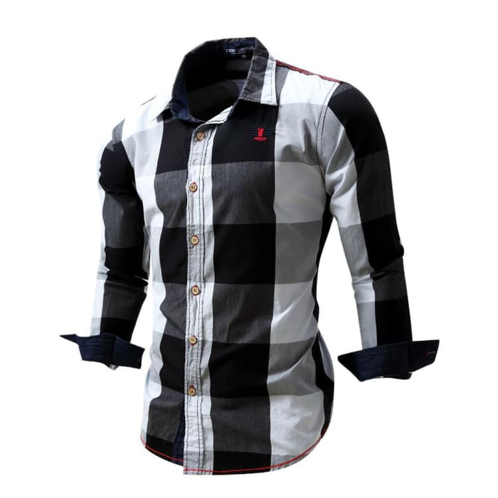 Mens Dress Shirts With Long Sleeve - Black / Europe Size M - Dress Shirts
