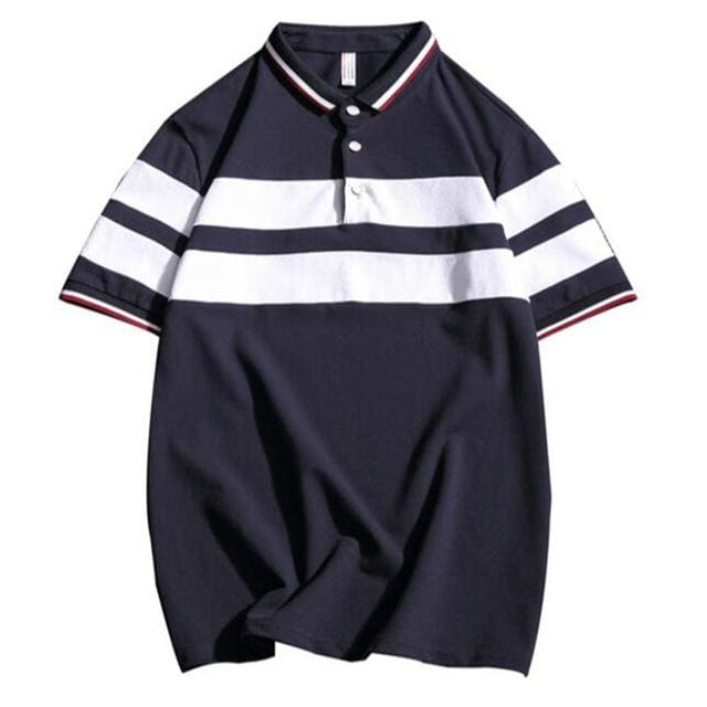 Mens Polo Cotton - GD-T23 Navy / S - Polo