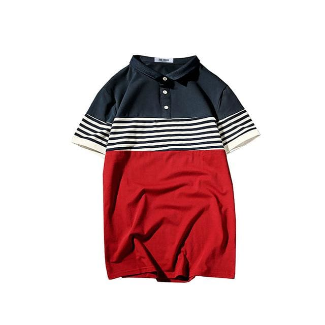 Mens Polo Cotton - GD-T43 Red / S - Polo