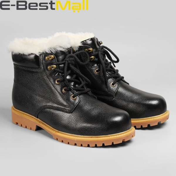 Mens Snow Boots - Natural Leather - Snow Boots
