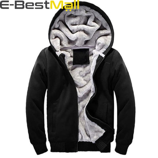 Mens Warm hooded Sweatshirt - Black / S - Sweatshirt