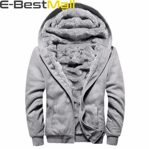 Mens Warm hooded Sweatshirt - Gray / S - Sweatshirt