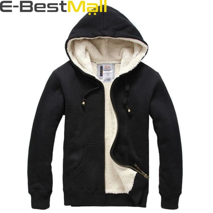 Mens Winter Coats Thick Wool Warm - Black / S - Coat