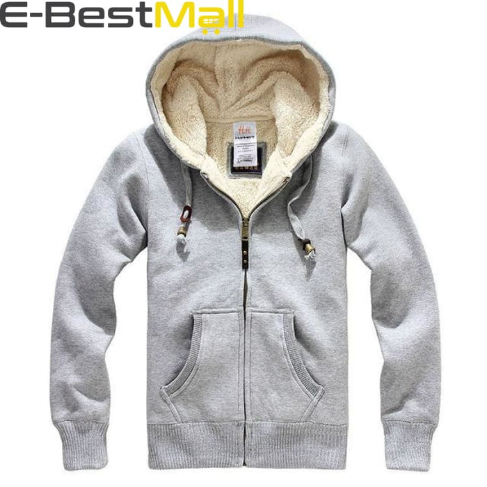 Mens Winter Coats Thick Wool Warm - Grey / S - Coat