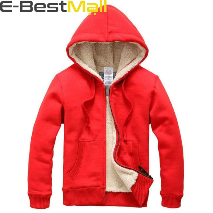 Mens Winter Coats Thick Wool Warm - Red / S - Coat