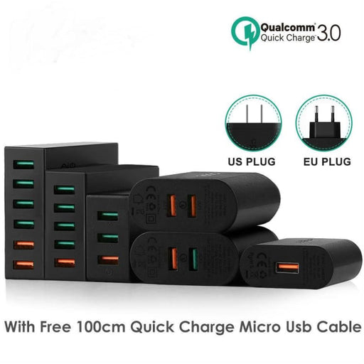 Mobile Phone Quick Charger USB for IOS and Android ( Iphone Samsung LG Sony...) - Mobile Phone Chargers