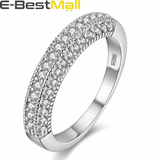 Modern Rhinestone Wedding Ring for Women - 5 - Ring