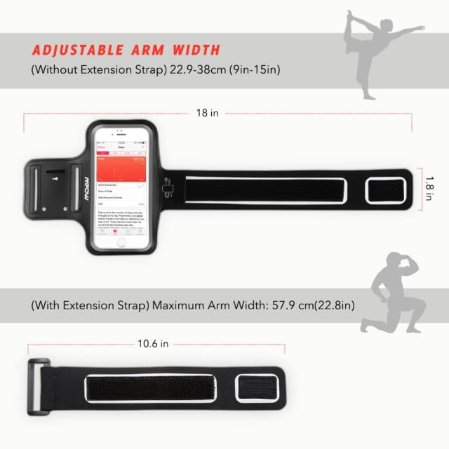 Mpow 2018 New Armband Sports Running Waterproof Arm Band Belt Wrist Band for 4.0-5.1inch phones For iPhone 8/7/6s/6 GalaxyS7/S6 - Armbands