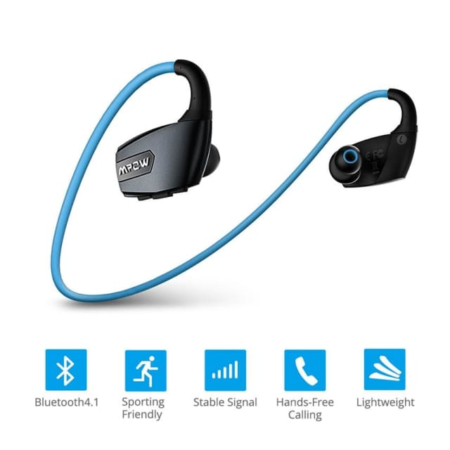 Mpow Antelope Wireless Bluetooth Headphone Noise Reduction Stereo bluetooth V4.1 wireless sports earphones with Microphone