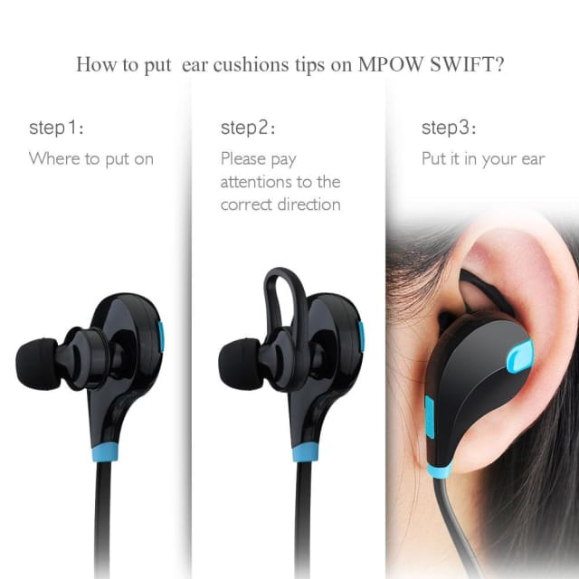 MPOW Aptx Stereo headset Swift IPX4 Sweatproof headphones bluetooth 4.0 wireless Earphones with MIC for Samsung xiaomi iphone - Earphone