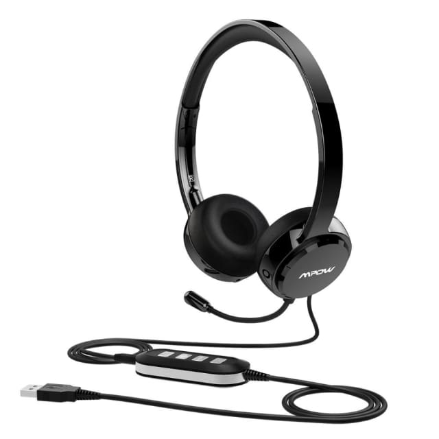 Mpow AUX Wired Headset With Noise Reduction In-line Control Protein Memory Earmuffs with microphone for Skype Calls ios anfroid
