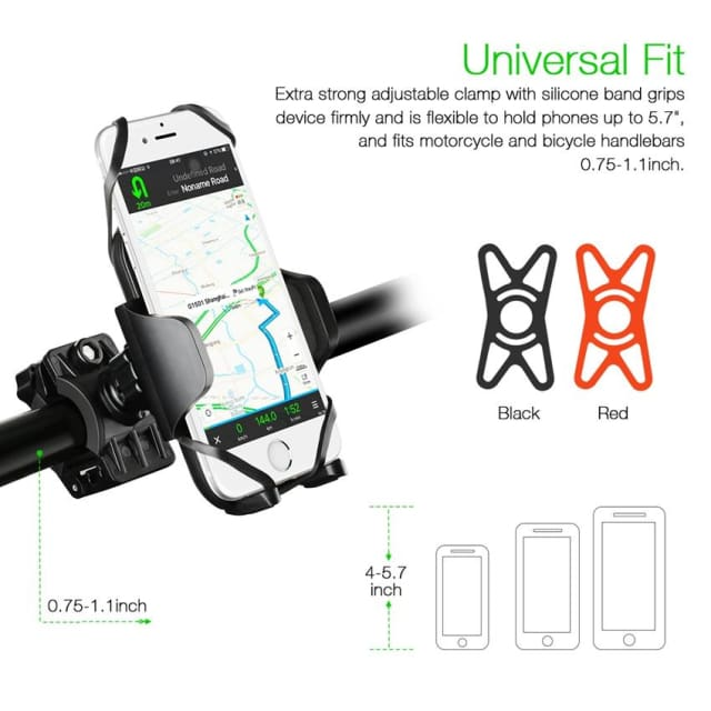 Mpow Bike Holder 360 Rotatable adjustable Universal phone holder Bicycle Mount Holder for iPhone samsung Xiaomi and GPS Device - Holder &