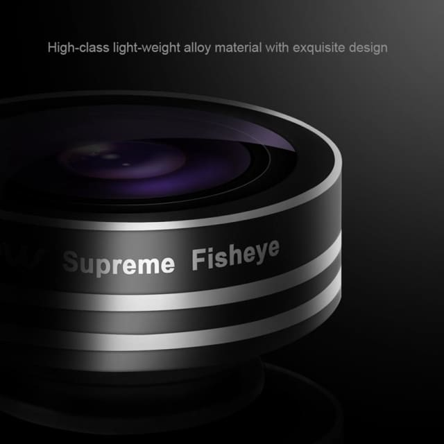 Mpow Clip-On Fish Eye Lens 180 Degree Supreme Fisheye Mobile Phone Lens for iPhone 6s Android HTC Samsung Smart Phones - Phone Lenses