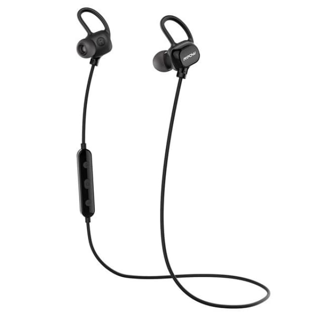 Mpow headphone IPX4-rated sweatproof stereo bluetooth headphones wireless sports earphones with MIC for iPhone Android Phone - Black / China