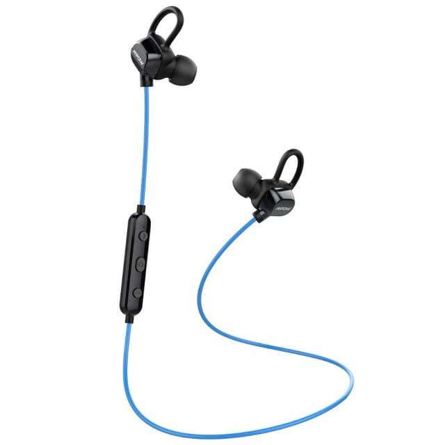 Mpow headphone IPX4-rated sweatproof stereo bluetooth headphones wireless sports earphones with MIC for iPhone Android Phone - Earphones &