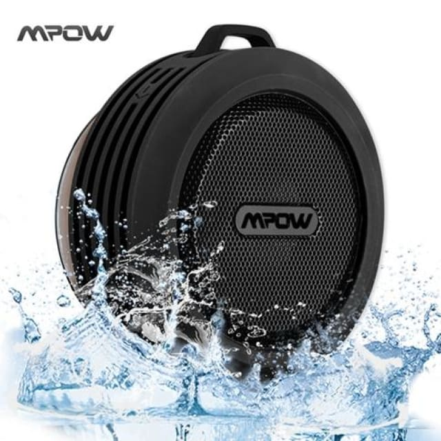 Mpow MBS6 Portable Wireless Bluetooth Speaker IPX4 Waterproof Outdoor speaker with Powerful Driver/built-in Mic Suction - China / Black -
