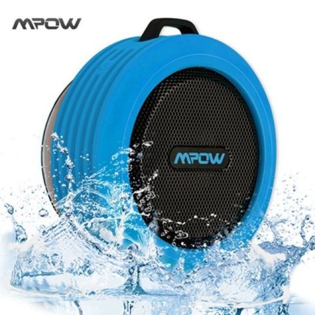 Mpow MBS6 Portable Wireless Bluetooth Speaker IPX4 Waterproof Outdoor speaker with Powerful Driver/built-in Mic Suction - China / Blue -