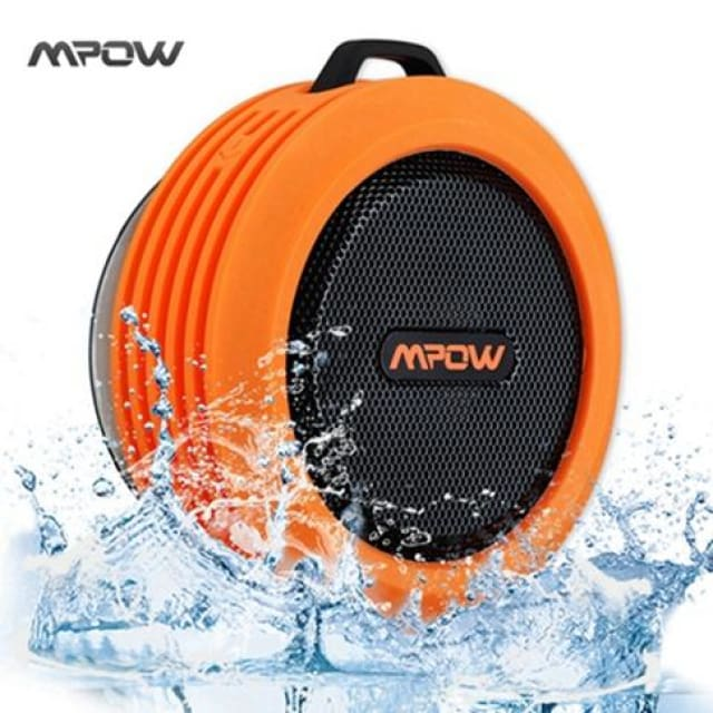Mpow MBS6 Portable Wireless Bluetooth Speaker IPX4 Waterproof Outdoor speaker with Powerful Driver/built-in Mic Suction - China / Orange -