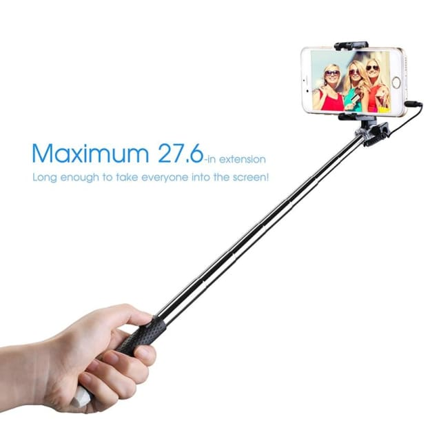 Mpow MBT22 Selfie Stick Mini Portable Selfie Stick Foldable Extendable Monopod 3.5mm Wire Connecting for iPhone 6s Android - Selfie Stick