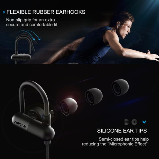 MPOW running Headphones Aptx HiFi 3D stereo Bluetooth 4.1 headphone In-ear CVC 6.0 chip Noise cancelling sports earphone