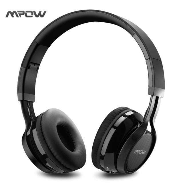Mpow Thor Foldable Over-Head Wireless Bluetooth 4.1 Headphones Gaming Stereo microphone Headset Earphone for iPhone & andriod - Black /