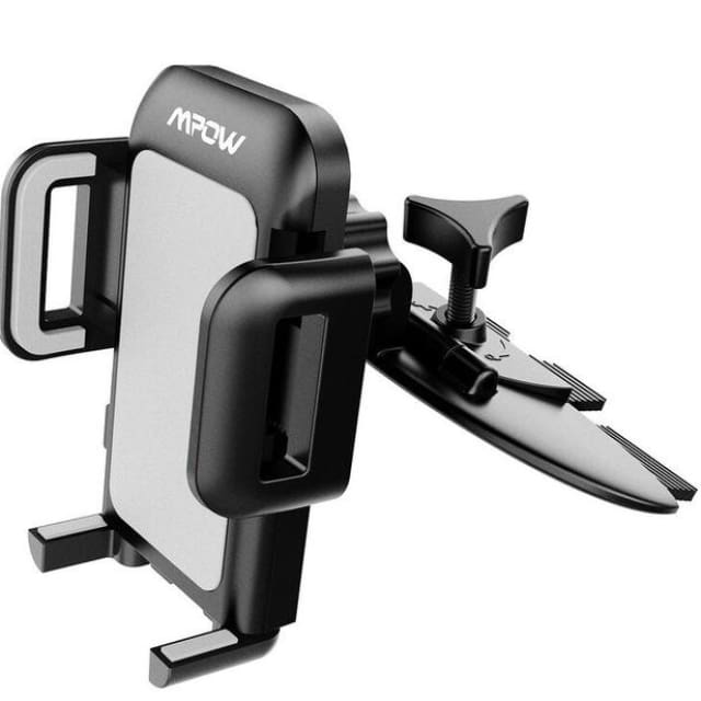 Mpow Universal CD Slot Car Mount Smartphone Holder 360 Rotating Phone Cradle Holder with One-Click Release Button for Phones - China / Black