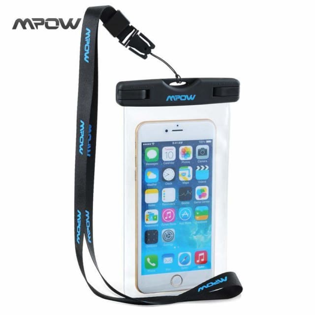 Mpow Universal IPX8 Waterproof Pouch mobile phone Bag Hiking Surfing Ski Snowproof bag for iPhone 8 7/Plus Android Xiaomi - Phone Pouch