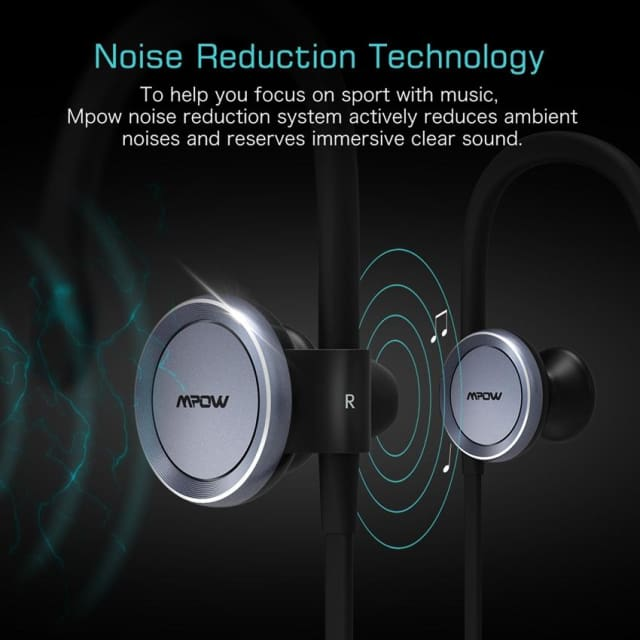 Mpow updated bluetooth headphone IPX4-rated sweatproof stereo headphones bluetooth 4.1 wireless sports earphones with microphone - Earphone