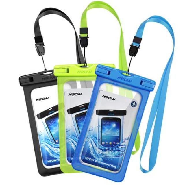 Mpow Waterproof bag - Bag Swimming Case Easy Take Photo Underwater for iphone7/7plus Galaxy/LG/HTC atc - blackgreenblue / China - Phone