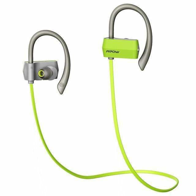 Mpow wireless Bluetooth 4.1 Headset Headphones handsfree call CSR chip Microphone sports Headphone Earphone for iPhone Android - Green /