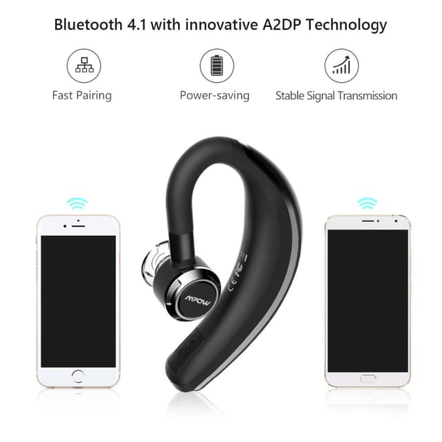 Mpow wireless car headphone portable handsfree bluetooth 4.1 180 rotation earbuds headphone with wicrophone