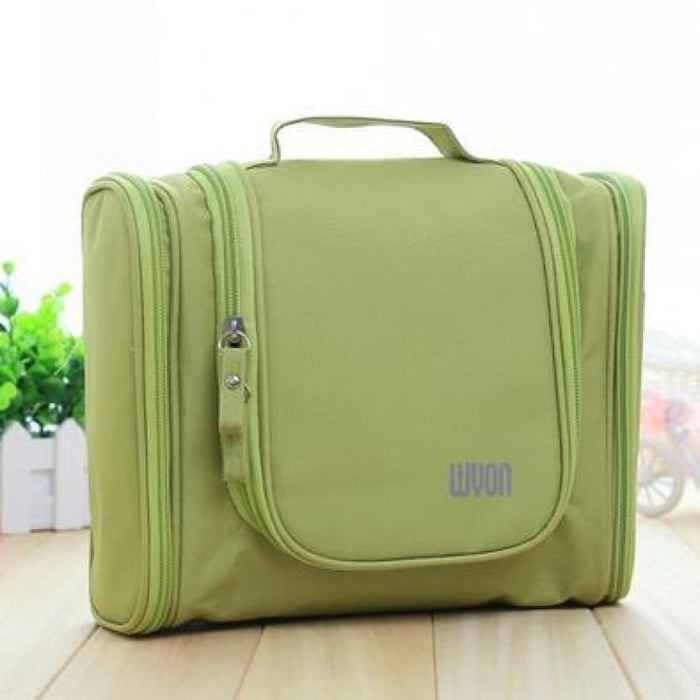 Multifunction MakeUp Bag Large Capacity - Green - Storage Bags