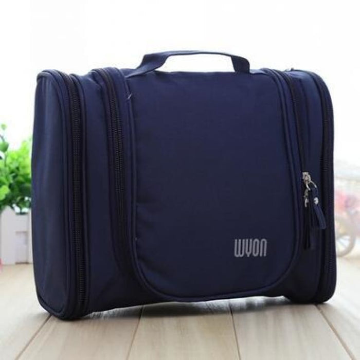 Multifunction MakeUp Bag Large Capacity - Navy - Storage Bags