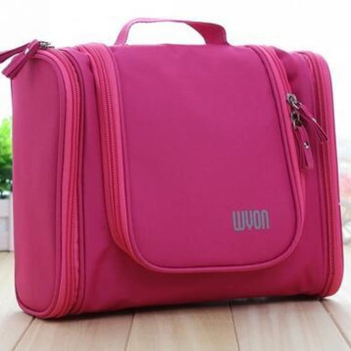Multifunction MakeUp Bag Large Capacity - Pink - Storage Bags
