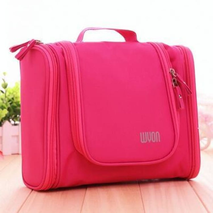 Multifunction MakeUp Bag Large Capacity - Red - Storage Bags