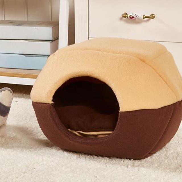 Multifunction Warm Kennel For Pet Dog / Cat - Brown / S 35x30cm - Multifunction Kennel