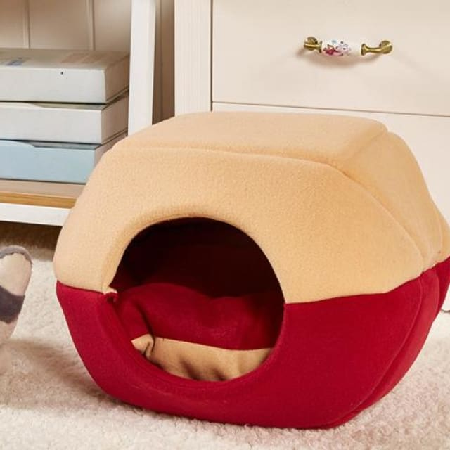 Multifunction Warm Kennel For Pet Dog / Cat - Red / S 35x30cm - Multifunction Kennel