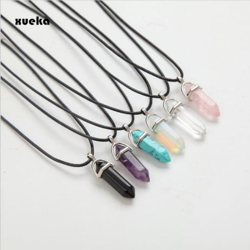 Necklaces for women with Natural Crystal Pendants-Fashion Jewelry - Necklace