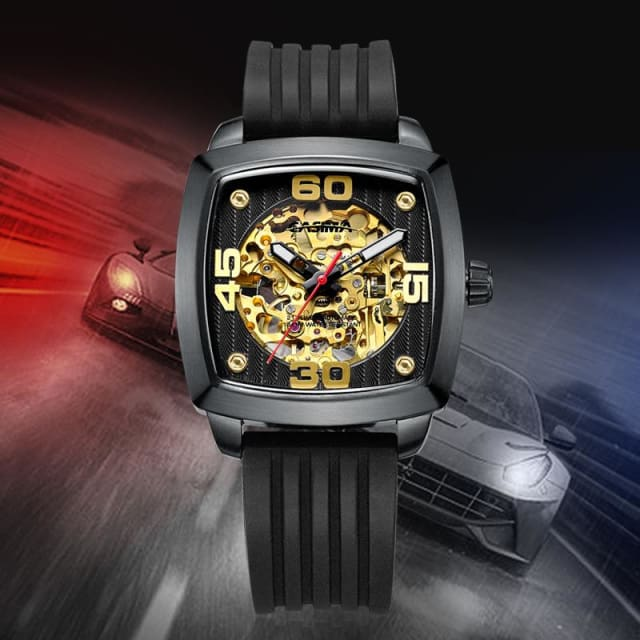 New design luxury brand watches men Automatic mechanical fashion business dress classic watch gold waterproof 100m - Mechanical Wristwatches