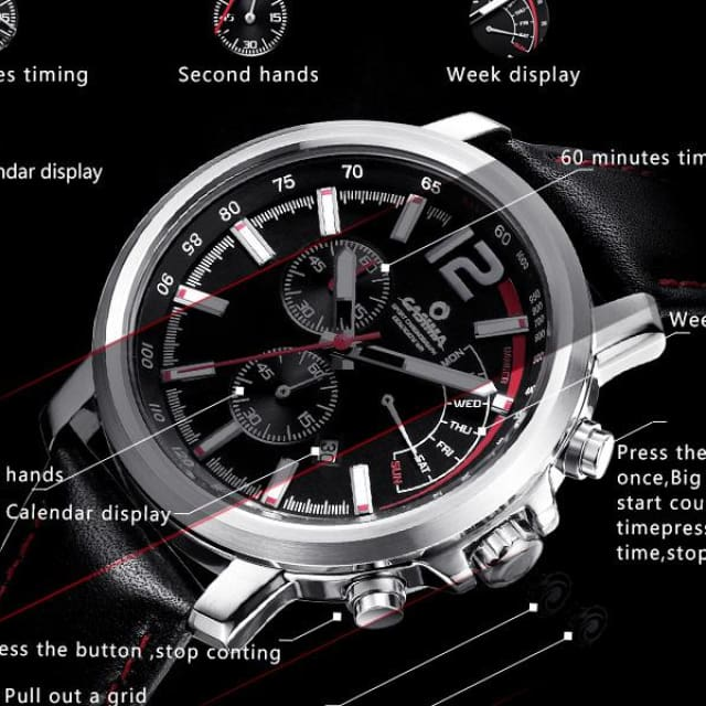 New Luxury brand watche men 2018 casual charm function chronograph sport quartz wrist watch luminous waterproof 100m - Quartz & Sport