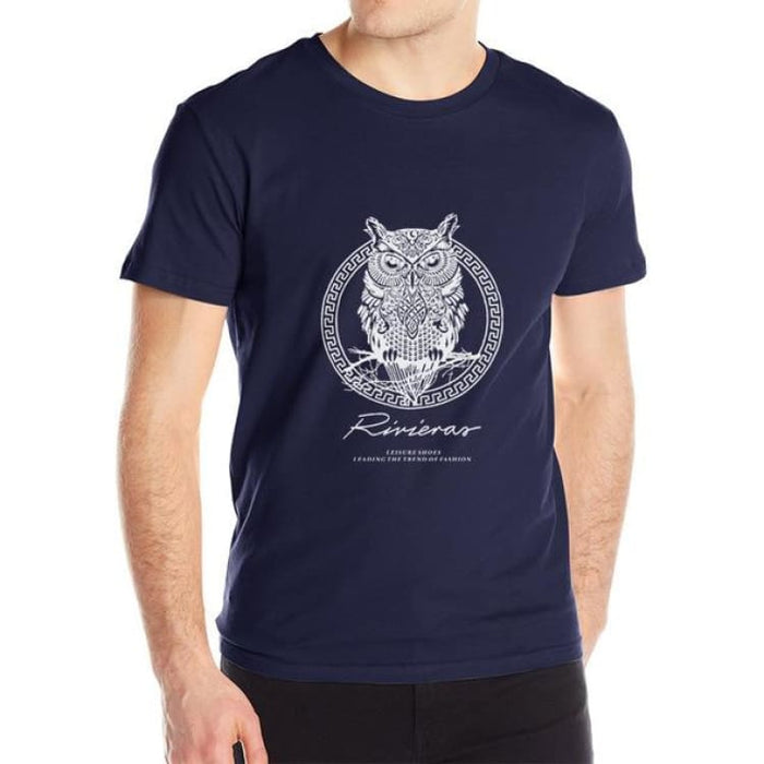 New T shirt Owl Mens - Darkblue / M - T-Shirt