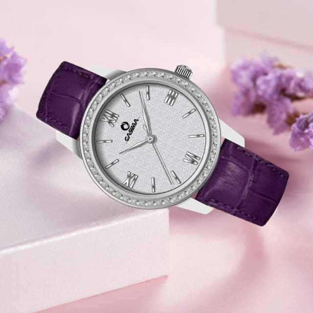 New Women watches 2018 fashion casual elegant purple quartz wristwatch leather strap Women Waterproof 100m