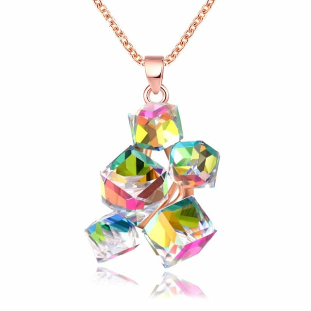 Nice Multicolor Geometric Necklace - Necklace