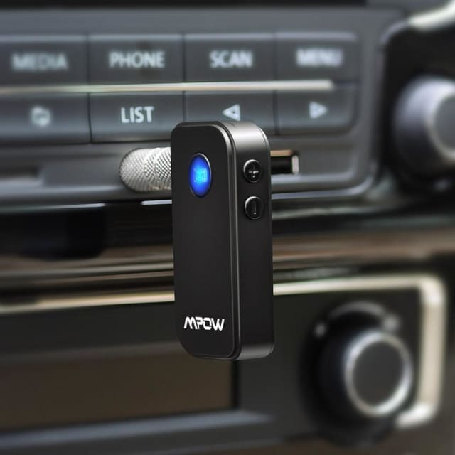 Original Mpow wireless Bluetooth 4.1 receiver Handsfree 3.5mm Car Audio Music Streaming Receiver Adapter Speaker car speaker - Portable