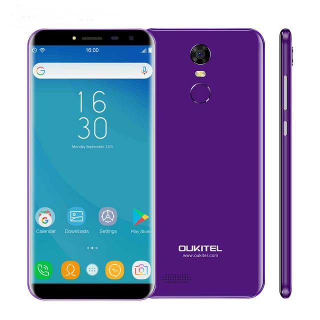 Oukitel C8 5.5Inch 18:9 Infinity Display Smartphone Android 7.0 3000mAh 2GB RAM 16GB MT6580 Quad Core Fingerprint 13MP - Mobile Phone