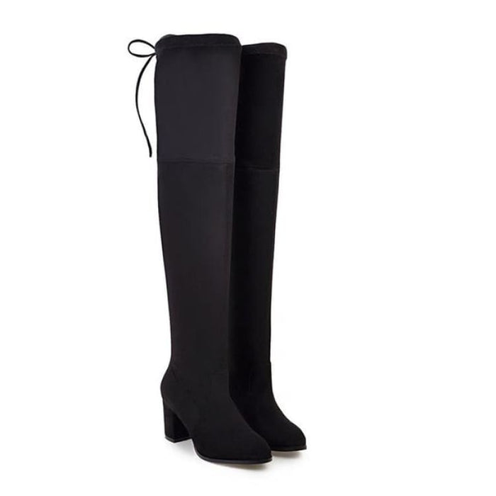 Over-the-Knee Boots For Women - black / 3 - Over-the-Knee Boots