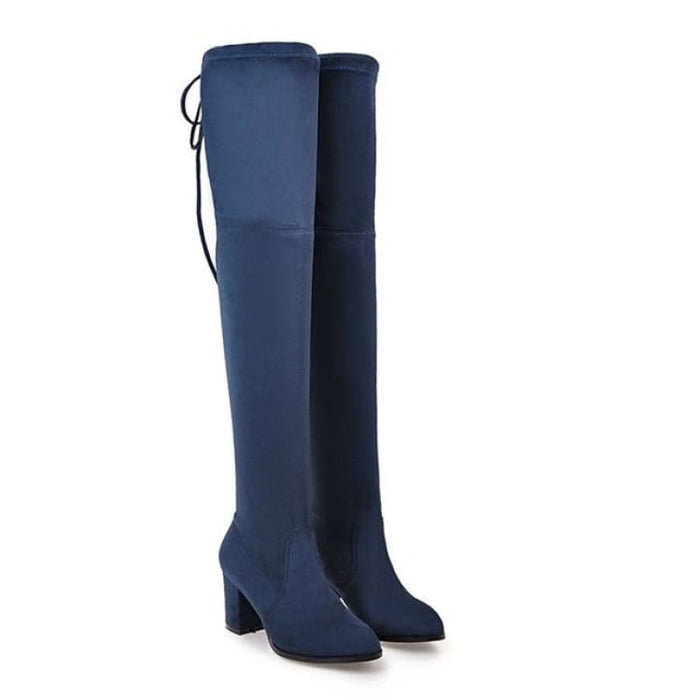 Over-the-Knee Boots For Women - blue / 3 - Over-the-Knee Boots