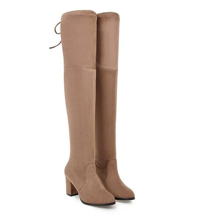 Over-the-Knee Boots For Women - camel / 3 - Over-the-Knee Boots