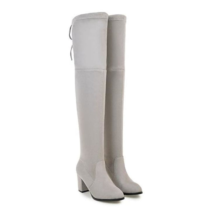 Over-the-Knee Boots For Women - Light grey / 3 - Over-the-Knee Boots