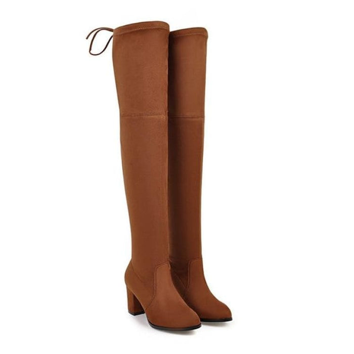 Over-the-Knee Boots For Women - orange / 3 - Over-the-Knee Boots